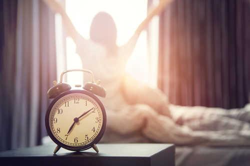 1つ目は早寝早起き